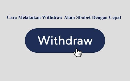 Cara Withdraw Judi Casino Sbobet