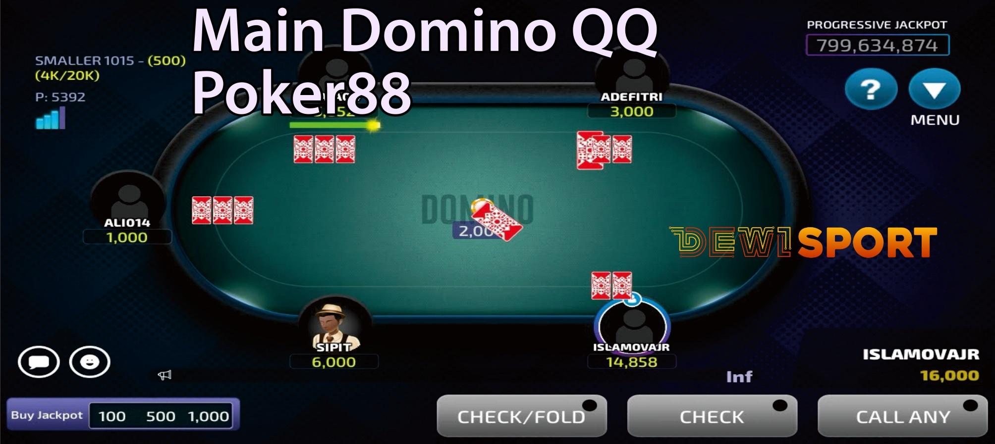 Cara Menang Main Domino QQ Poker88